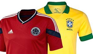 Wat wordt de opstelling van Brazilië en Colombia?