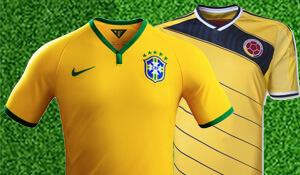 De eerste kwartfinale wordt Brazilië - Colombia.