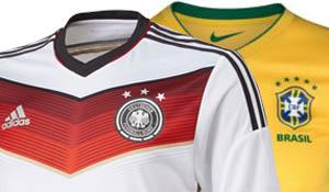 Wat wordt de opstelling van Brazilië en Duitsland?