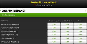 Van Perise topfavoriet voor doelpunt tegen Australie