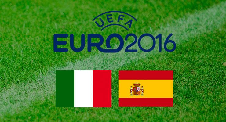 EK Voetbal 2016 Italie - Spanje