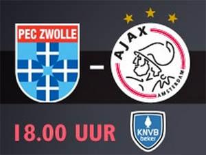 KNVB Beker PEC Zwolle - Ajax