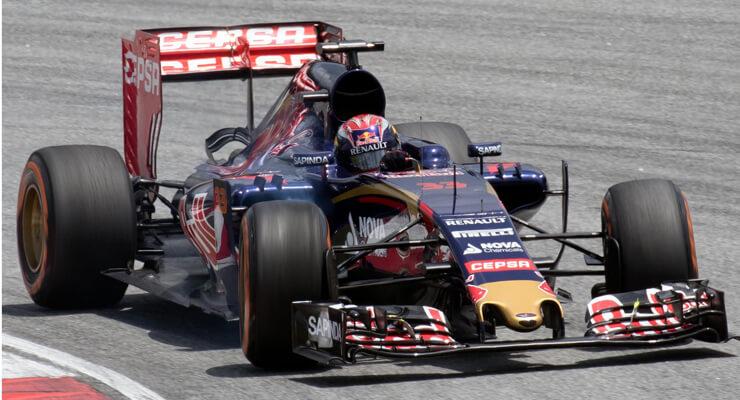 Max Verstappen in zijn Toro Rosso