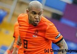 De middenvelders van Oranje — Nigel de Jong, Jonathan de Guzman en Wesley Sneijder