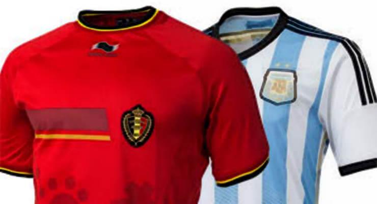 WK voetbal 2014: Argentinie - Belgie