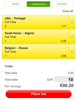België, Zuid-Korea en Portugal zijn de favorieten van vanavond.
