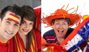 Spanje - Nederland fans
