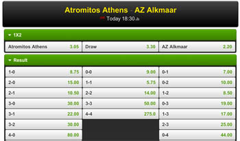 Europa League voorronde Atromitos - AZ