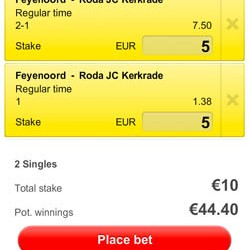 Eredivisie: Feyenoord torenhoog favoriet tegen Roda JC