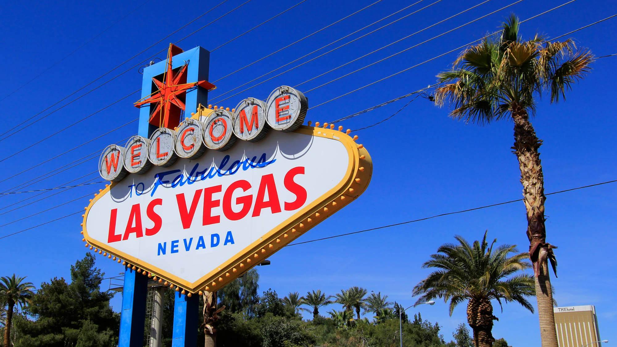 'Welcome to Fabulous Las Vegas Nevada'- bord