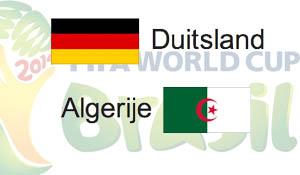 Voorspellingen voor de achtste finale Duitsland - Algerije.