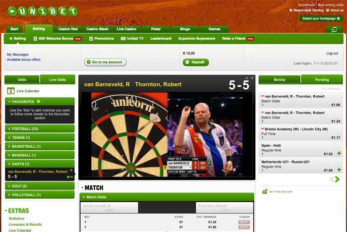 Kwartfinales Darts live online kijken